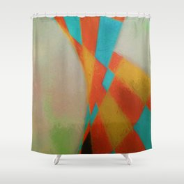 Abstract Composition 396 Shower Curtain