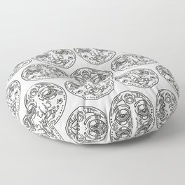 Graphic face Floor Pillow