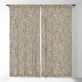 Pussywillow Pattern — Taupe Blackout Curtain