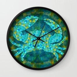 Mandala Crab - Beach Art - Sharon Cummings Wall Clock