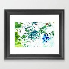 fish ink Framed Art Print