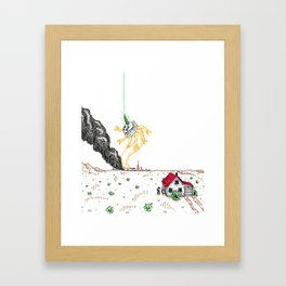 Explosion at the Labs Framed Art Print