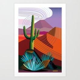 Thunderhead Builds in Arizona Desert Art Print