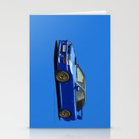 subaru Stationery Cards featuring Subaru Impreza 22B STI Type UK Sonic Blue by Digital Car Art