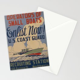 Vintage poster - Coast Guard Stationery Cards