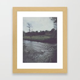 Washed Out Water Framed Art Print