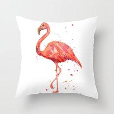Flamingo, Pink Flamingo, Tropical, bird art, Florida Throw Pillow