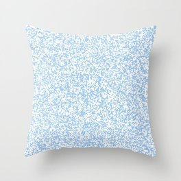 Tiny Spots - White and Baby Blue Throw Pillow