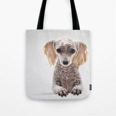 Bath Time for Rylie  (poodle) Tote Bag