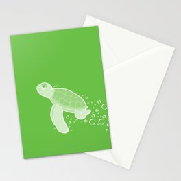 Apathetic Turtle Stationery Cards