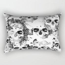 Cloudy Skulls B&W Rectangular Pillow