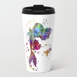 The little mermaid watercolor art Travel Mug