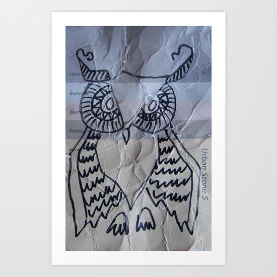gray owl 02 Art Print