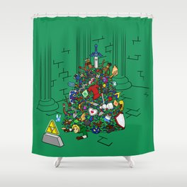 Link's Real Inventory Shower Curtain