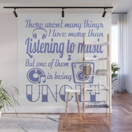 Listening to Music Uncle Wall Mural