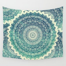 BICOLOR COLD WINTER MANDALA Wall Tapestry