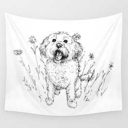 Cute Doggy Wall Tapestry
