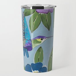 Botanical Hummingbird Paradise Travel Mug