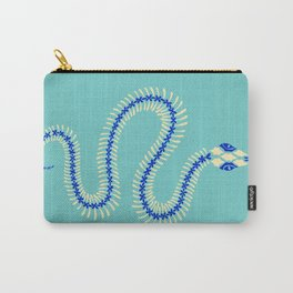 Snake Skeleton – Blue & Cream Carry-All Pouch