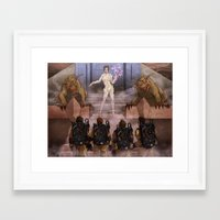 ghostbusters Framed Art Prints featuring Ghostbusters by Kim Herbst