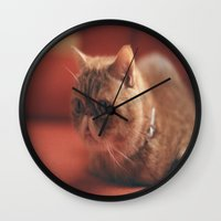 hunting Wall Clocks featuring hunting by Catalina Matei