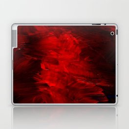 Red Abstract Paint Laptop & iPad Skin