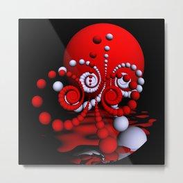 spiral world in fisheye perspective Metal Print