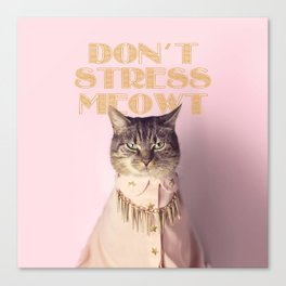 Don't Stress Meowt Canvas Print