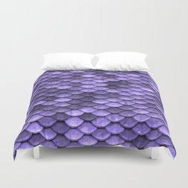 Mermaid Scales Periwinkle Ultra Violet Duvet Cover