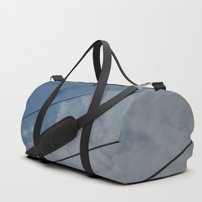 clouds and wire, abstract, no.03 Duffle Bag