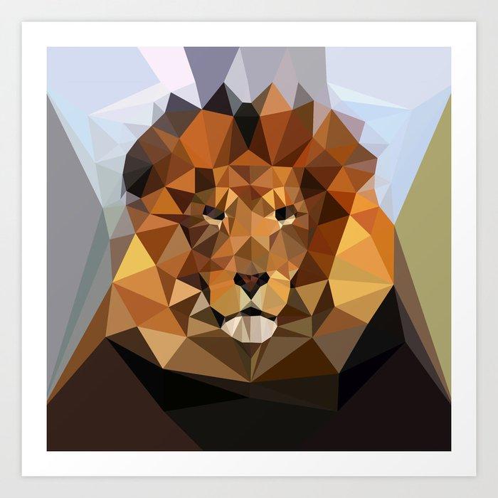 Lion Techy Art Art Print