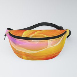 Sunset Rose Abstract Fanny Pack