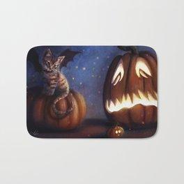 Batty Halloween Bath Mat