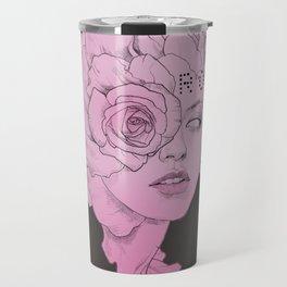 rose black Travel Mug