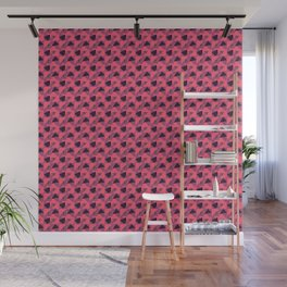 Pastel Red Abstract pattern Wall Mural