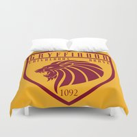 gryffindor Duvet Covers featuring Gryffindor Crest by machmigo