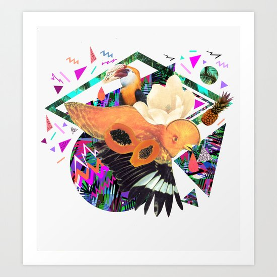 PAPAYA by Carboardcities and Kris tate Art Print