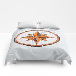 Wind rose ~ Inlaid marble Comforters