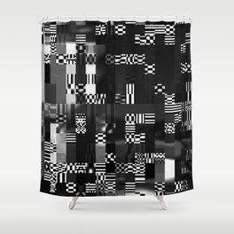 Glitch - 2 Shower Curtain