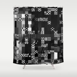 Glitch - 2 Shower Curtain