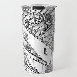 Alexandra Road -London housing estate Camden architectural drawing Travel Mug