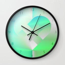 Danish Heart Mint Wall Clock