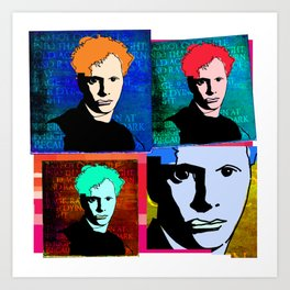 DYLAN THOMAS (FUNKY-COLOURED 4-UP COLLAGE) Art Print