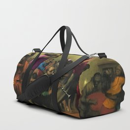 'Jazz on a High Night' African American Harlem Masterpiece by Robert Riggs Duffle Bag