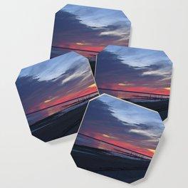 Magic Summer Sunset on the West Coast of DENMARK Coaster