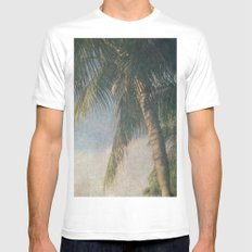 Paradise Palms MEDIUM White Mens Fitted Tee