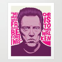 christopher walken Art Prints featuring Christopher Walken by Mike Wrobel
