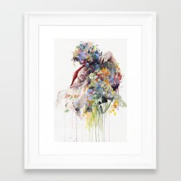 scentless flowers Framed Art Print