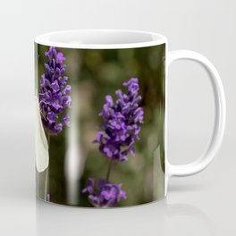 Relaxing butterfly on lavender Coffee Mug