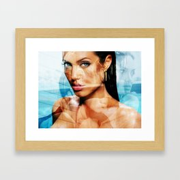 faces of Angelina Jolie2 Framed Art Print